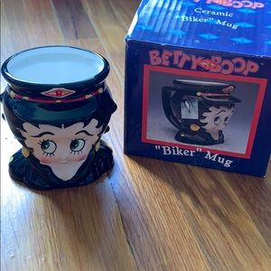 Betty Boop ceramic biker mug